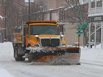 Snow Plowing Downtown