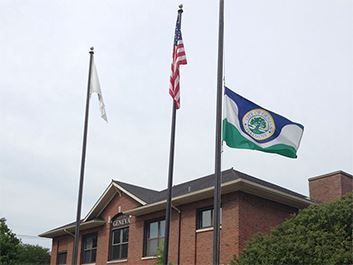 City Hall Flag Lowered